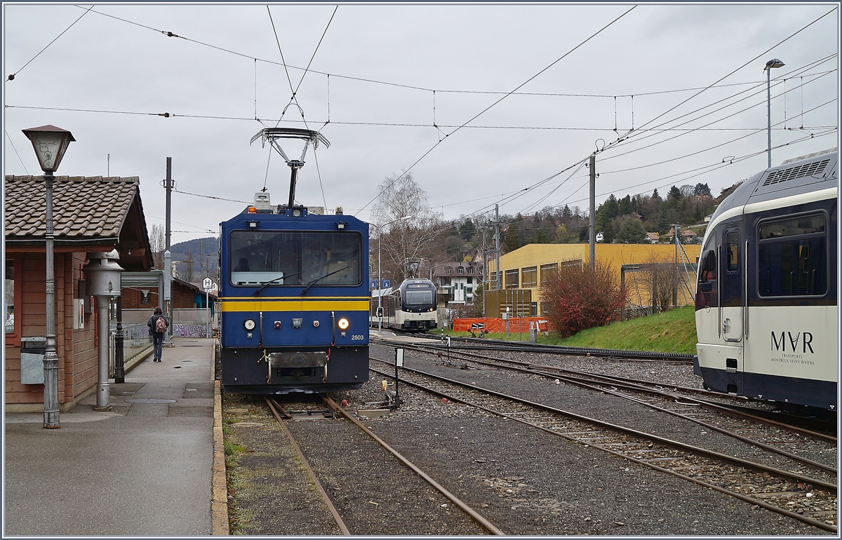 Der MOB Gem 2/2 2503 in Blonay. 
