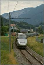 TGV Lyria 9284 von Bern nach Paris bei Noiraigue am 22.