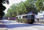 bern/601952/die-ablieferung-des-be88-13-am Die Ablieferung des Be8/8 13 am 28.Juni 1973: Langsam geht's jetzt ins Depot Eigerplatz, Standardwagen 104 ein paar Schritte voraus. Heute befindet sich Be8/8 13 übrigens wohl in Iasi (Rumänien).