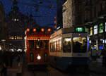 zuerich/532634/vbz-mit-der-weihnachtsstrassenbahn-maerlitram-in VBZ: Mit der Weihnachtsstrassenbahn 'Märlitram' in Zürich unterwegs am 15. Dezember 2016. Foto: Walter Ruetsch