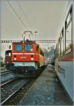 Die Ae 417 192 der GFM in Romont. 